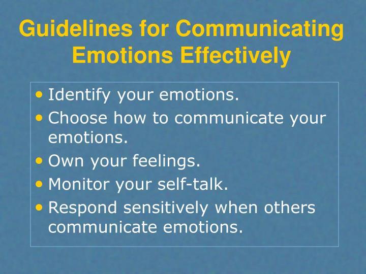 communicating emotions effectively